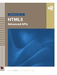 Introduction to HTML5 Advanced APIs